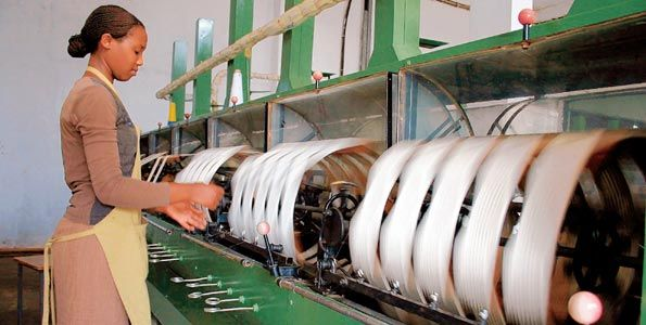 Produce factory silk yarn