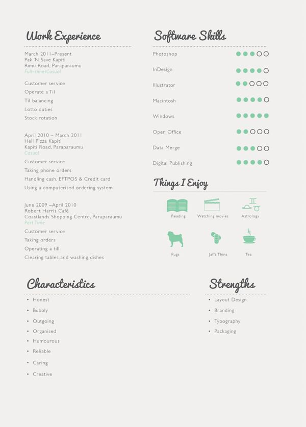 Creative Cv By Sarah Alberino Via Behance  Ultimate Resume