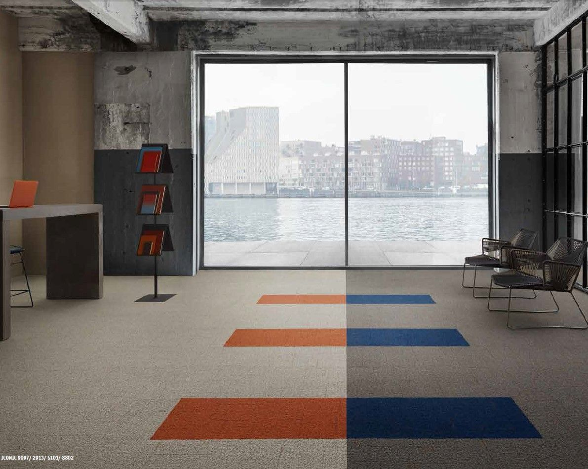Create Playful Flooring With Desso Iconic Carpet A Unique Tufting Technique Gives This Tactile Carpet Tile Hidden D Soft Flooring Carpet Tiles Interior Design