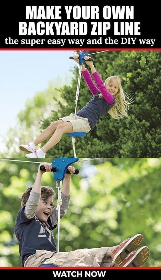 How to make a backyard zipline #backyardplayhouse ...