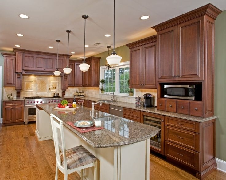 Kitchen Island With Stove And Seating Designs With A Wolf Double Oven Range And An Expansive