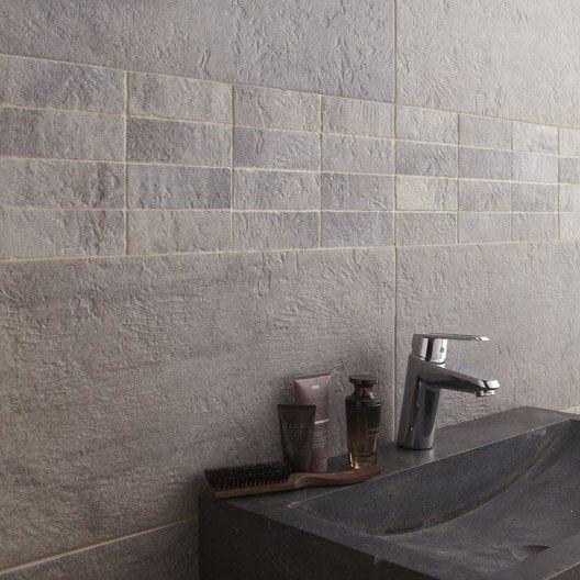 Carrelage sol et mur gris, Vestige l.30 x L.60 cm | Deco | Pinterest
