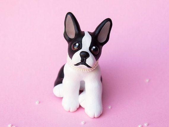 RESERVED Izzy Boston terrier sculpture