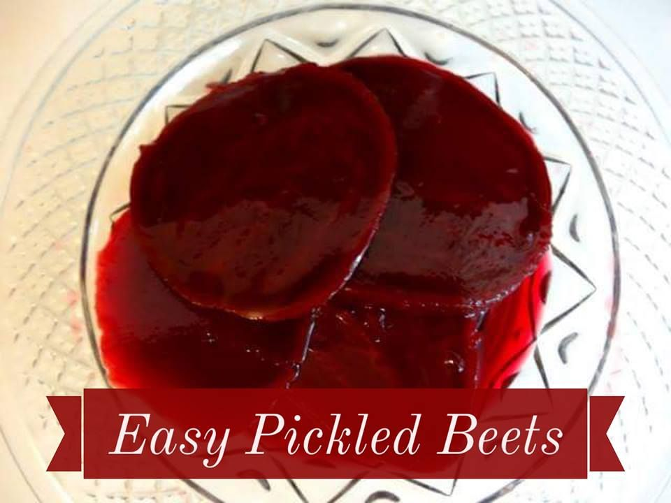 Recipe: Easy Pickled Beets  http://www.twohensandtheirchicks.com/recipe-easy-pickled-beets.html