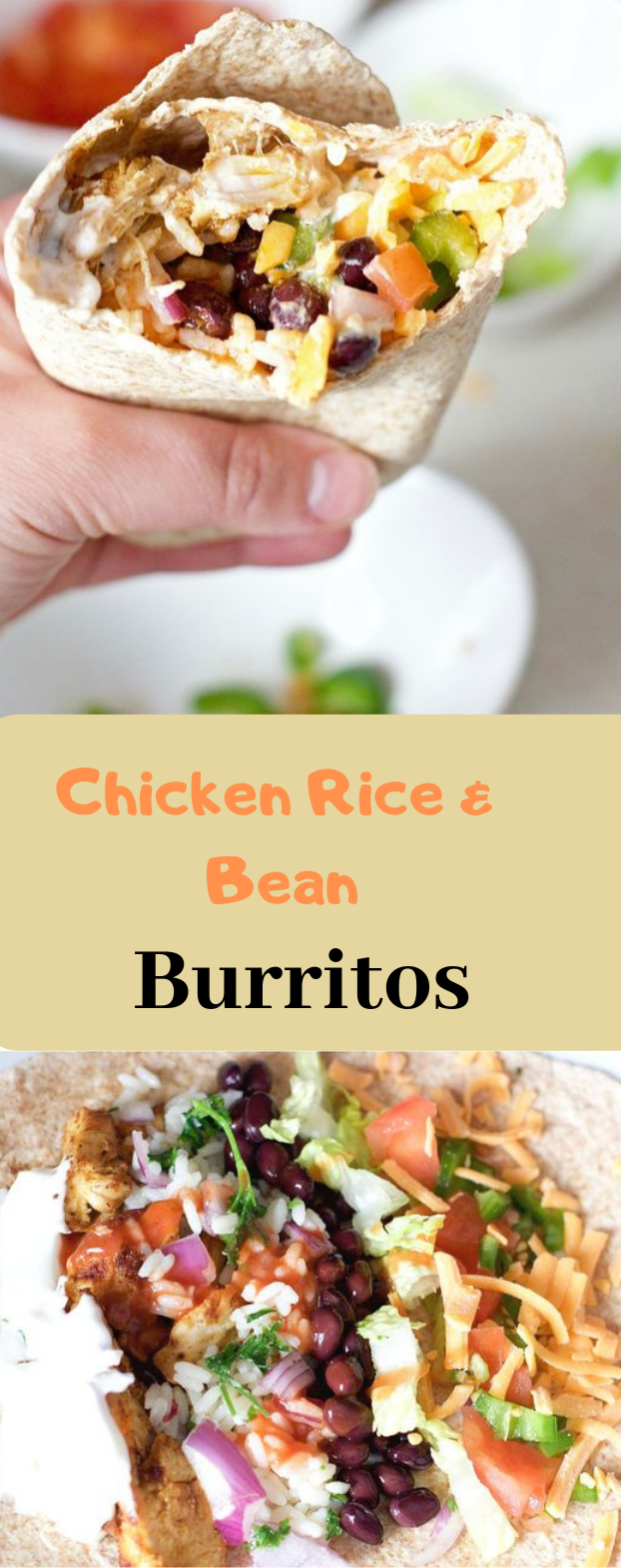 CHICKEN RICE AND BLACK BEAN BURRITOS #dinner #yummy #seasonedricerecipes