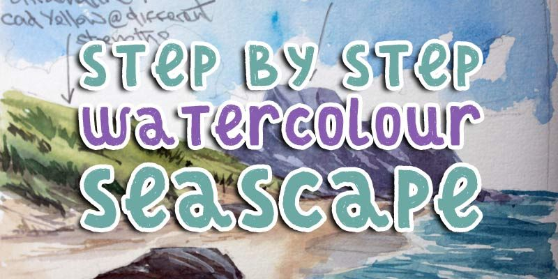 Painting A Watercolour Seascape Step By Step Step By Step