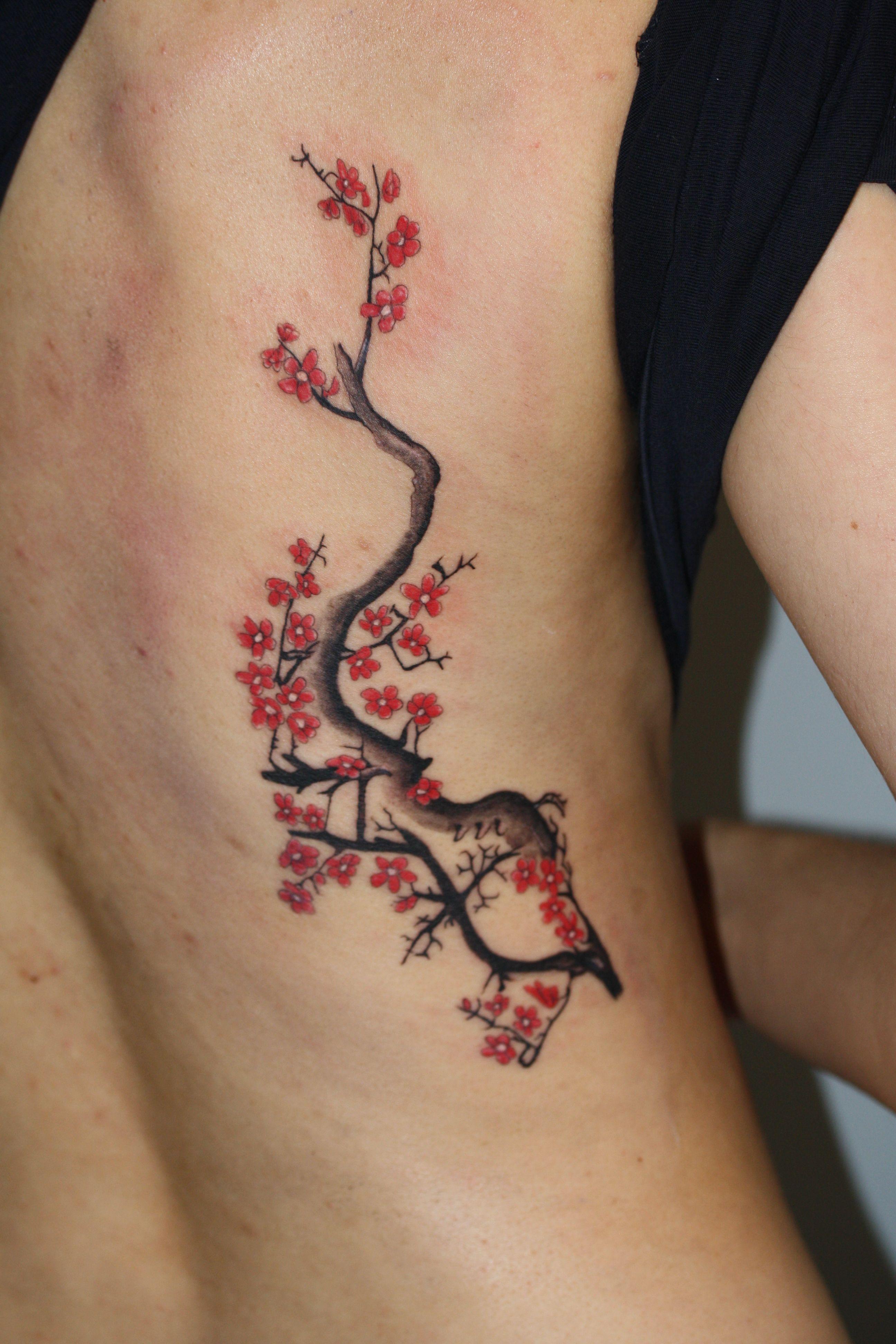Drzewo I Kwiaty Wiśni Wykonanie Time4tattoo Www