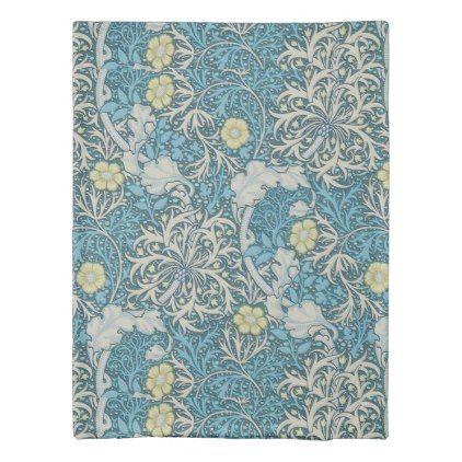 William Morris Art Nouveau Pattern Seaweed Blue F Duvet Cover Zazzle Com Art Nouveau Pattern William Morris Art Art Nouveau