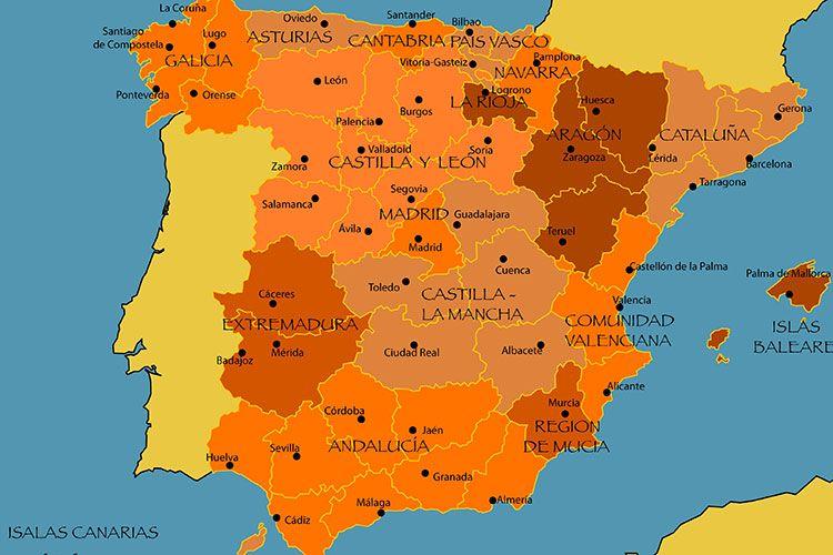 Mapa Da Espanha Conheca As Principais Cidades E Regioes