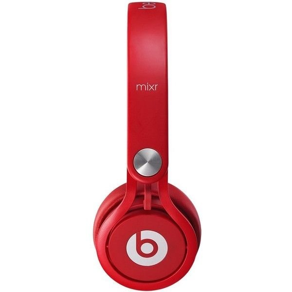 Beats Mixr On-Ear Headphone Color Red ($150) ❤ liked on Polyvore featuring accessories, tech accessories, red headphones and headphones