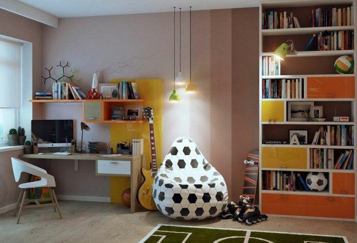 schöne kinderzimmer ideen für einrichtung puff fußball motiv, Schlafzimmer design