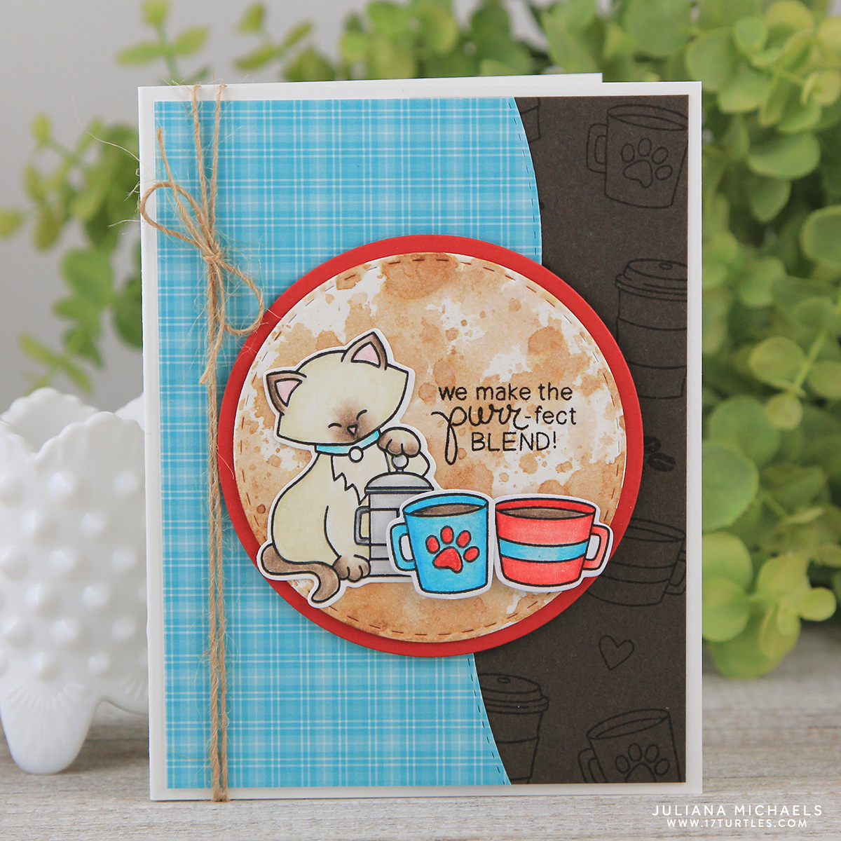 Purrfect Blend Coffee Card By Juliana Michaels Featuring Newtons