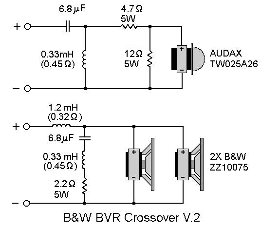 B W Bvr Spl Xover V 2 Schematics Speaker Projects Audio Ideas Loudspeaker