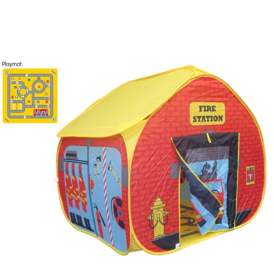 Fire Station Pop Up Play TentEasy to assemble fire station pop up play tent. Keep  sc 1 st  Pinterest & Pop Up Fire Station Play Tent | Tents and Plays