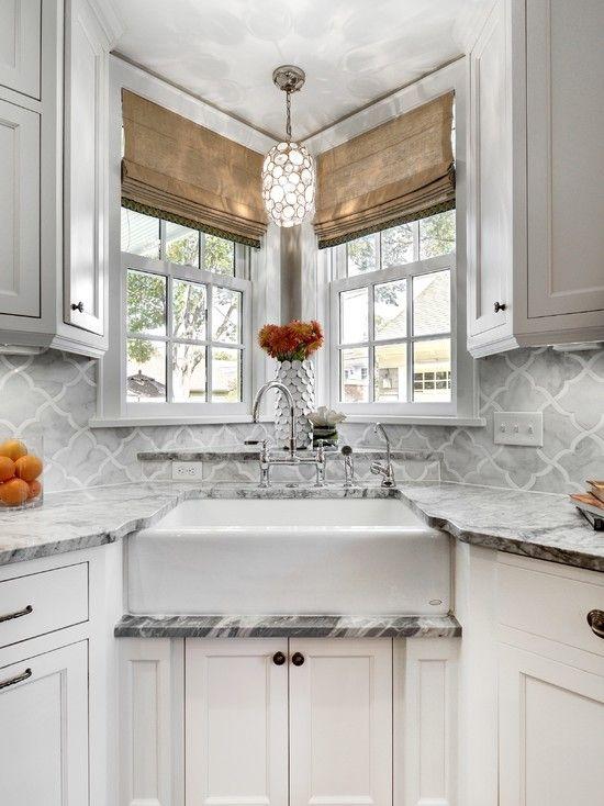 Corner Sink Idea Kitchen Sink Design Small Kitchen Layouts Farmhouse Style Kitchen