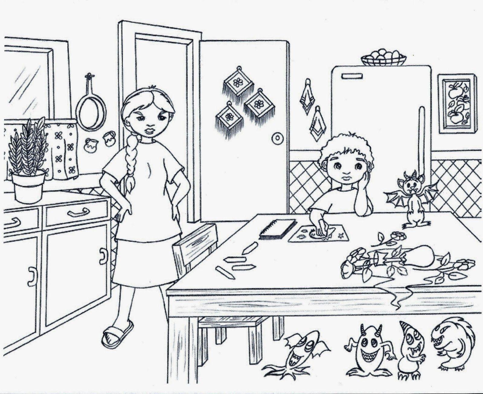 Desenhos Para Colorir Cozinha Para Colorir Nauana Pinterest  ~ Desenhos Para Colorir Cozinha