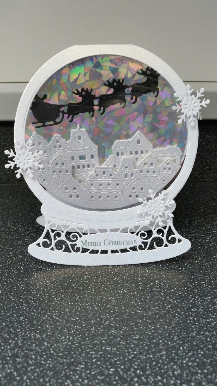 Tattered Lace Snowglobe 2016 Die. … Christmas cards