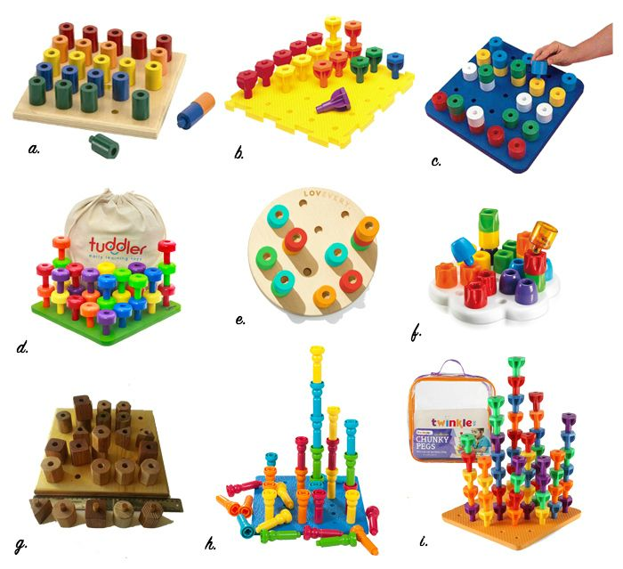 Peg toys for Montessori toddlers 12-36 months at How we ...