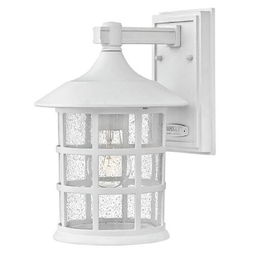 White Outdoor Lights Seeded Glass Outdoor Wall Light Classic White Hinkley Lighting