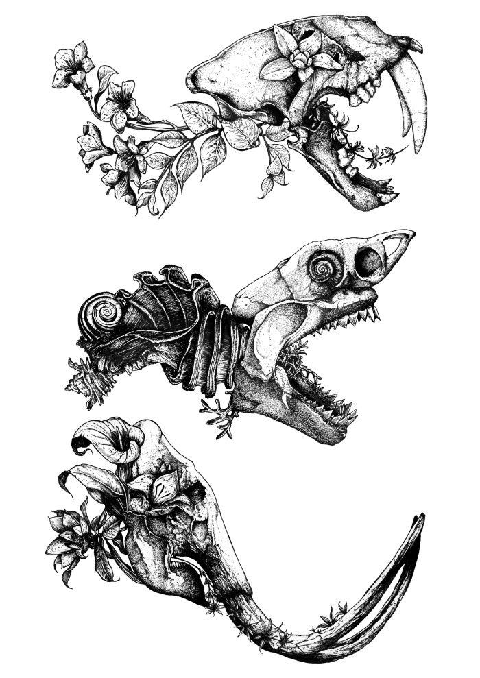 Prehistoric Bloom  Art Print by sinpiggyhead #dinosaurart