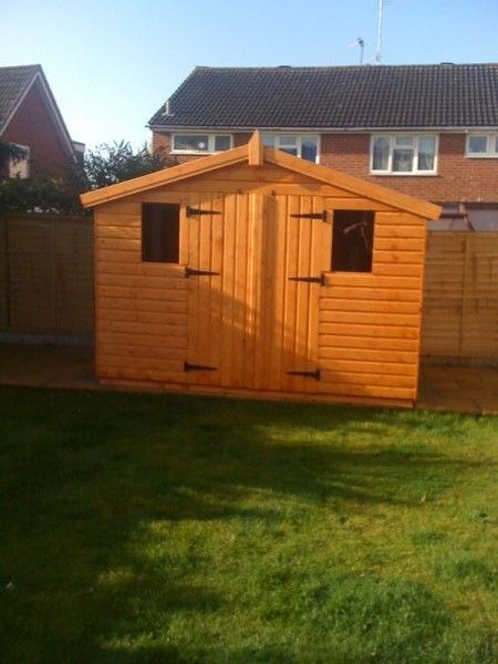 10x6 reverse apex wooden garden shed 13mm tg 3x2 cls framing