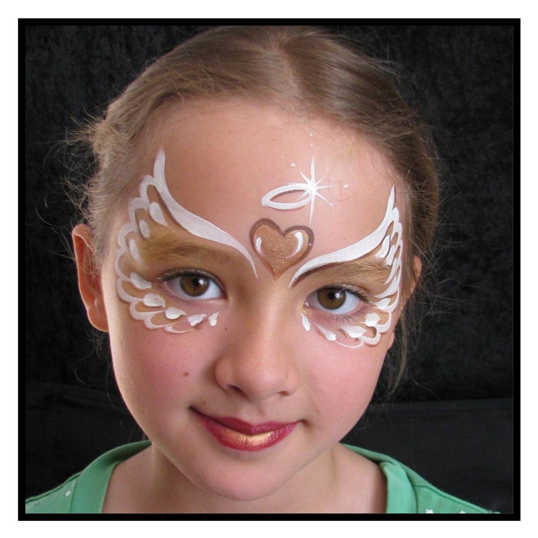 diy maquillage enfant ange maquillage filles pinterest kinder schminken gesicht. Black Bedroom Furniture Sets. Home Design Ideas