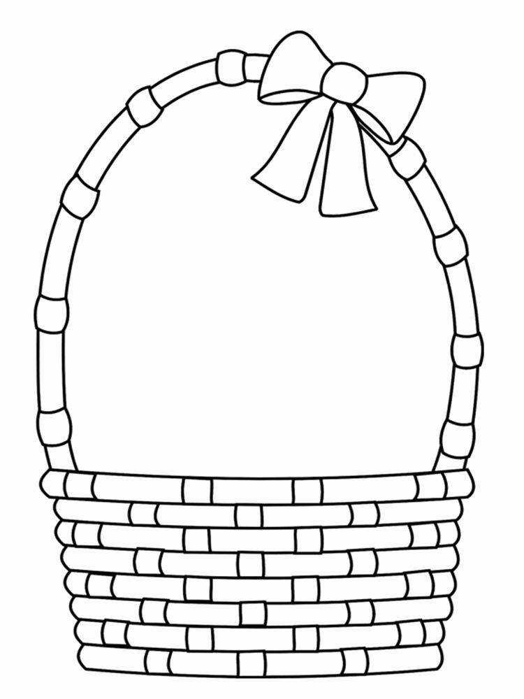 Free Printable Coloring Pages Easter Basket Lovely Empty Easter Basket Coloring Page In 2020 Easter Basket Printable Easter Basket Pattern Easter Colouring