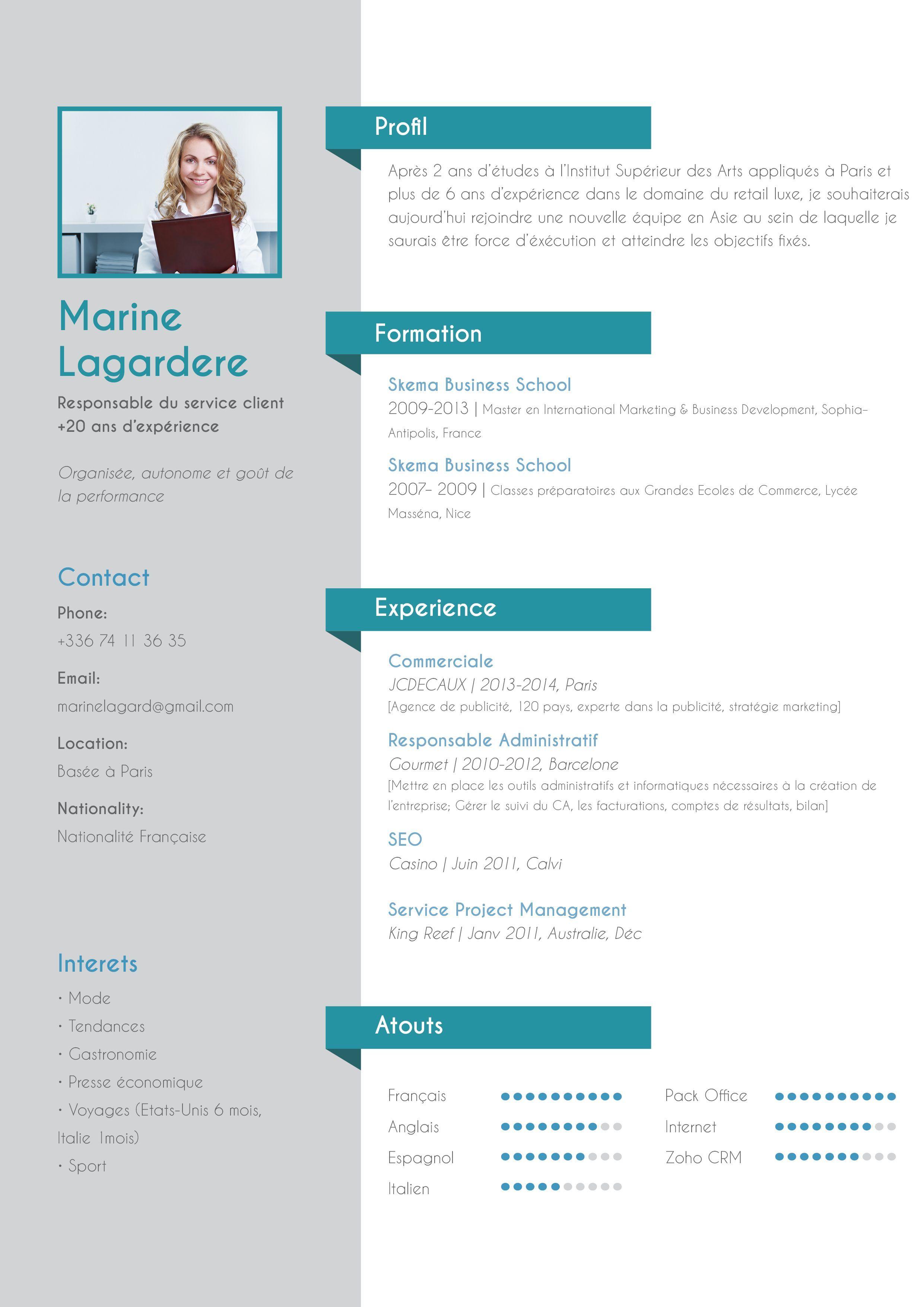 Pin Oleh Haddajimondher Di Cv Original Cv Kreatif Desain Resume Desain Cv
