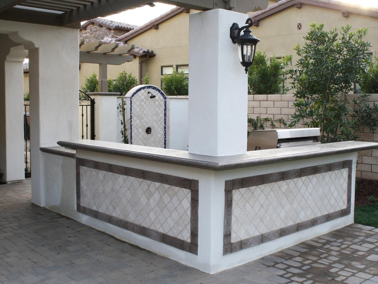 Stainless Steel Outdoor Kitchen This Mediterranean Outdoor Kitchen Features A Large Stainless