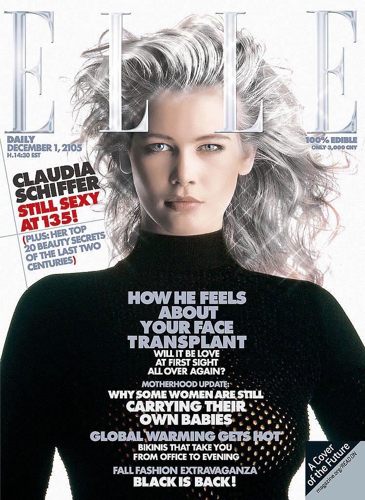 Claudia Schiffer - Elle cover December 2105                              …