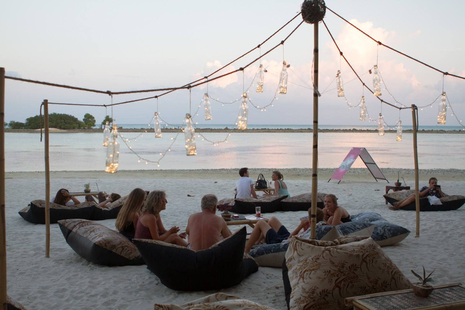 Chill Chill On Bean Bags On The Beach At Mini Bar Chaweng