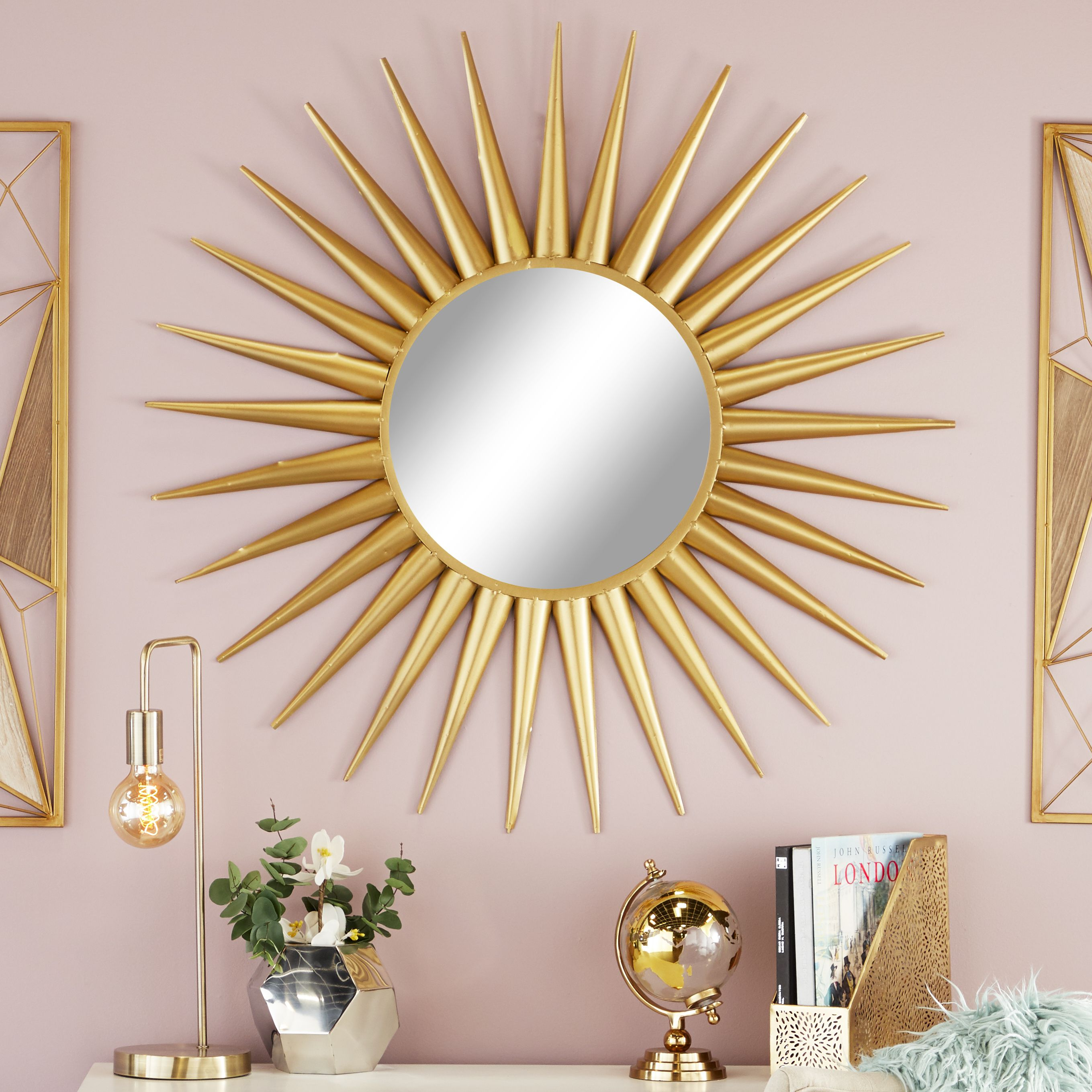 Cosmoliving by cosmopolitan glam style large round