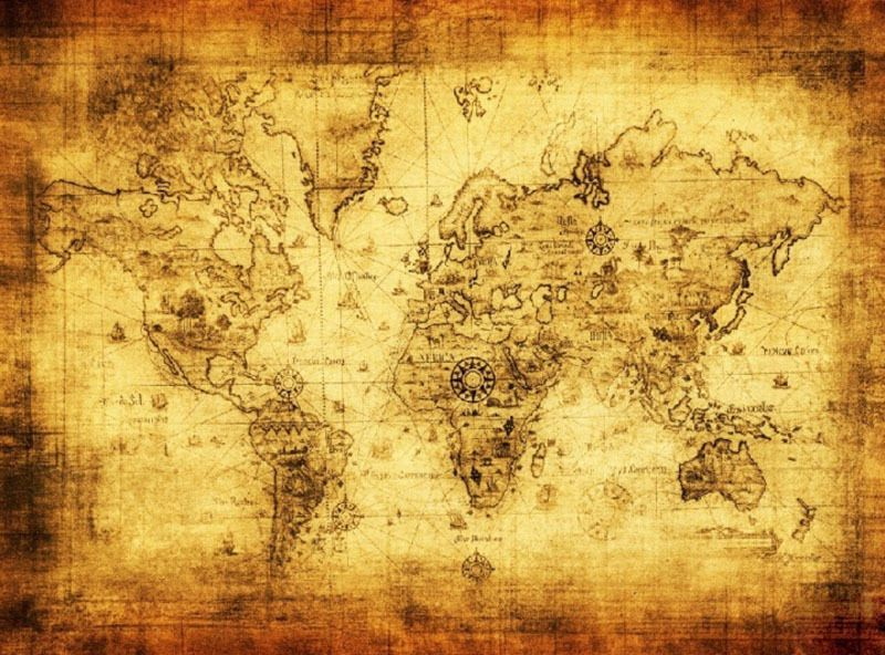 Old world nautical cloth map maps pinterest explore vintage maps vintage style and more gumiabroncs Image collections