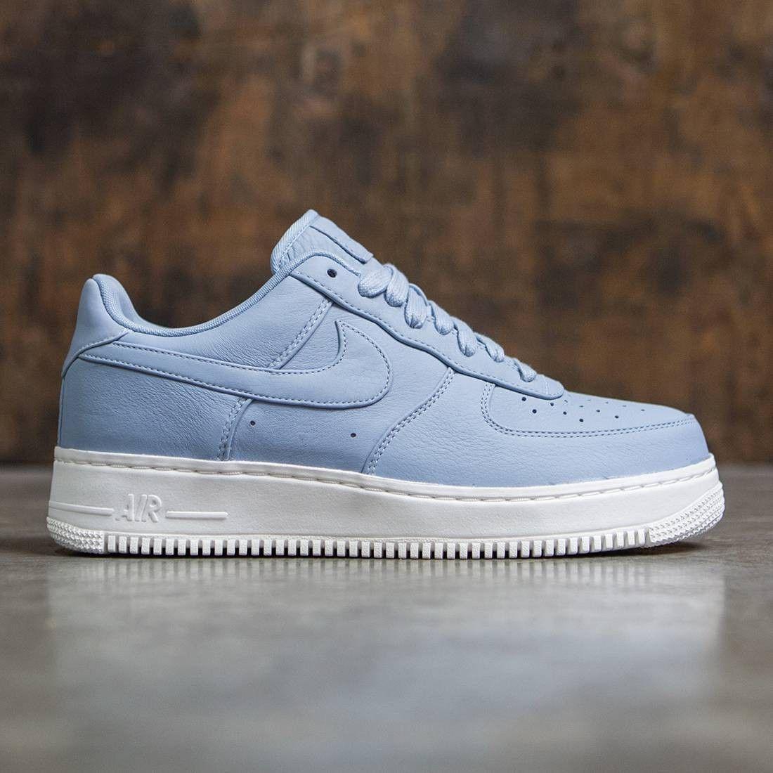 5318fad24c0 Nike Men Nikelab Air Force 1 Low (blue grey   blue grey-blue grey ...