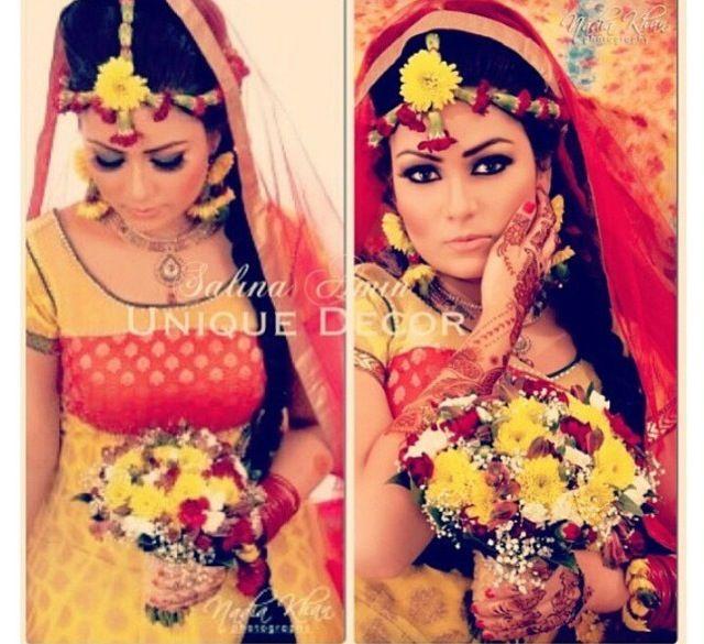 Fresh Flower Jewelry For Brides : Fresh flower jewelry haldi ceremony floral