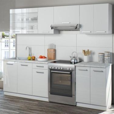 WSV,Küche,Küchenzeile,Küchenblock,EInbauküche,Schrank,Weiß,Set in - küche mit küchenblock