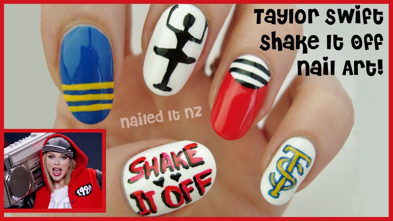 Taylor Swift Nails Shake It Off Nail Art Inspired By The Music Video