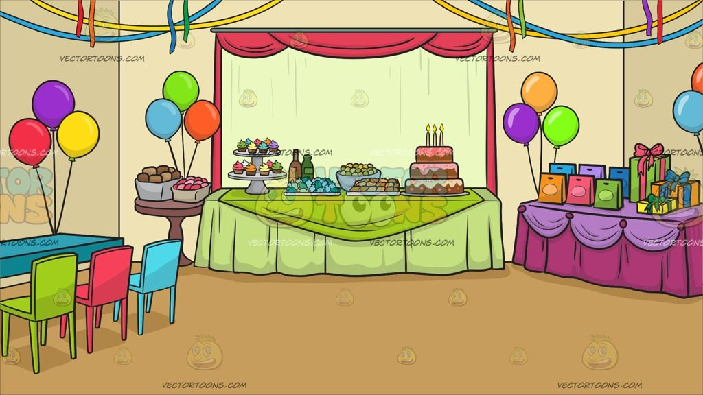 A Birthday Party Background A Room With Bright Beige Walls And Pale Mustard Brown Floor A Cent Birthday Party Background Party Background Colourful Balloons