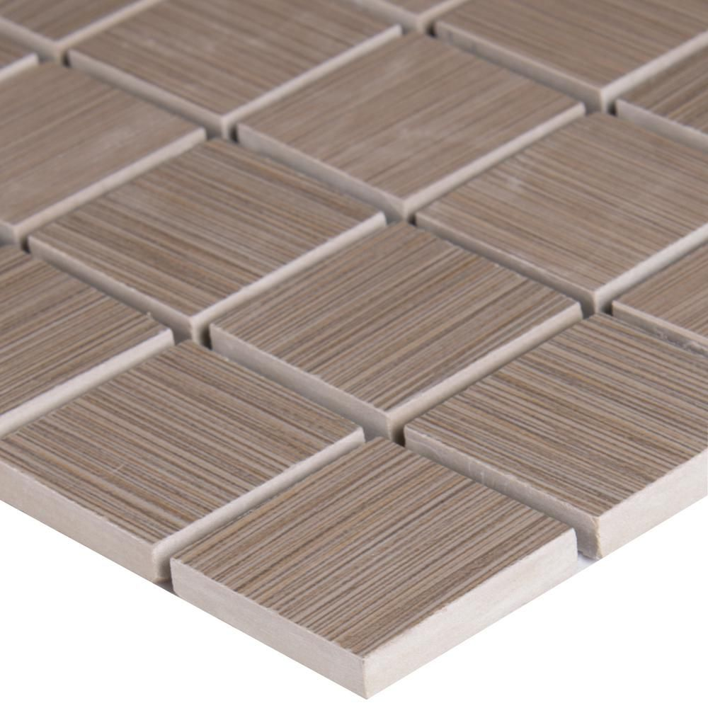 Ms International Cappuccino 12 In X 12 In Polished: MS International Metro Charcoal 12 In. X 12 In. X 10 Mm