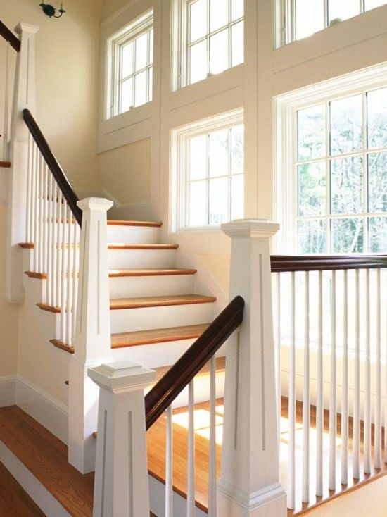 Best Craftsman Staircase Design Pictures Remodel Decor And 400 x 300