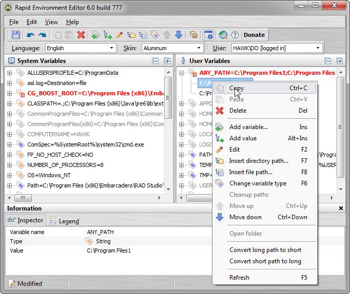 Rapid Environment Editor 9 1 build 932 Rapid Environment Editor