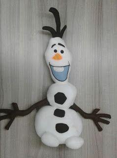 Li Vieira Artesanato: Molde Boneco de Neve Olaf Frozen com PAP