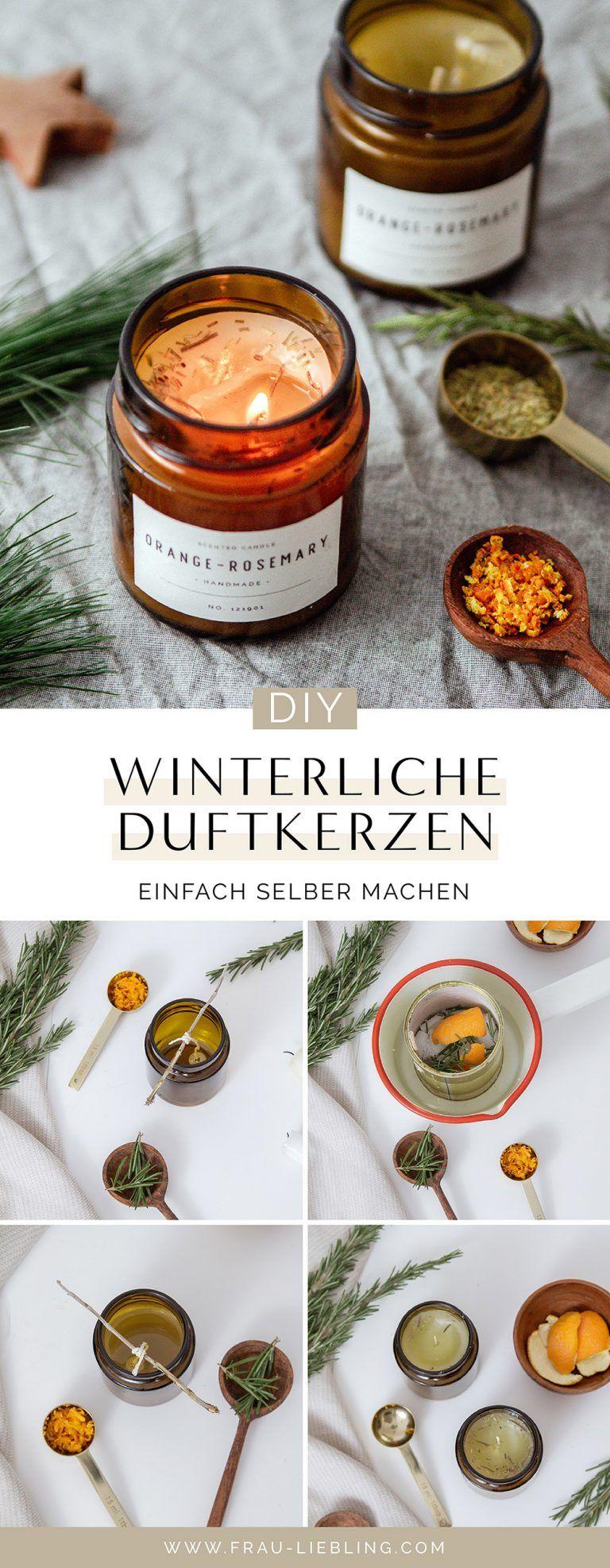 DIY Duftkerzen mit Orange und Rosmarin selber machen