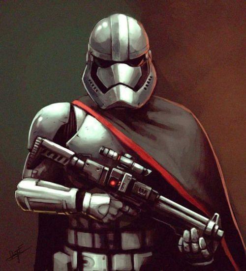 Capt. Phasma Comandante del Primer Orden a cargo de la Legión de Stormtroopers.