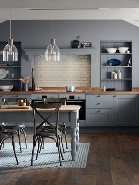 Best Combine The Traditional Shaker Look With On Trend Slate 640 x 480