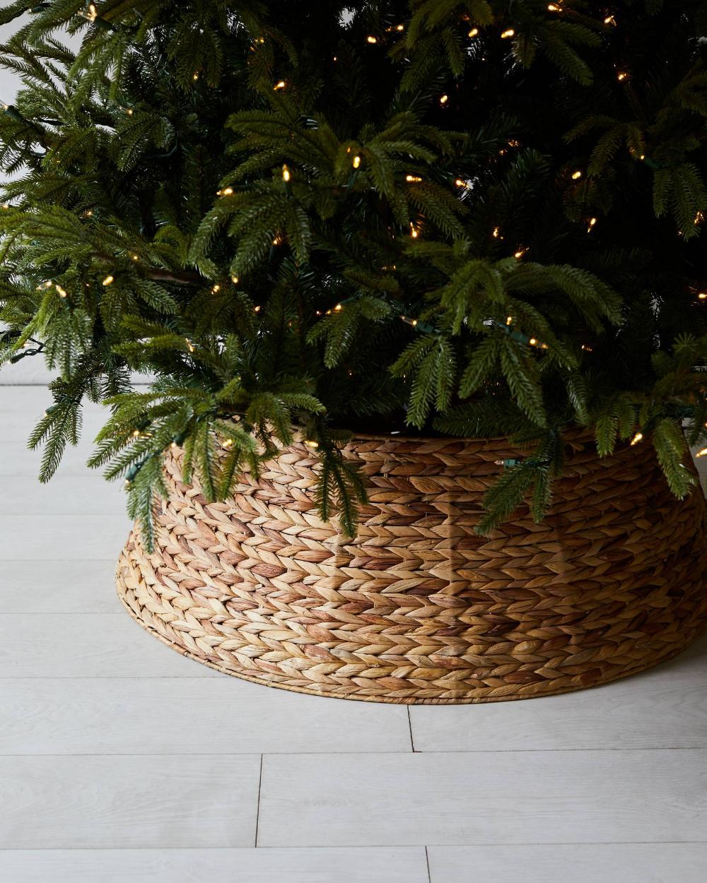 Woven Christmas Tree Collar Balsam Hill Tree collar