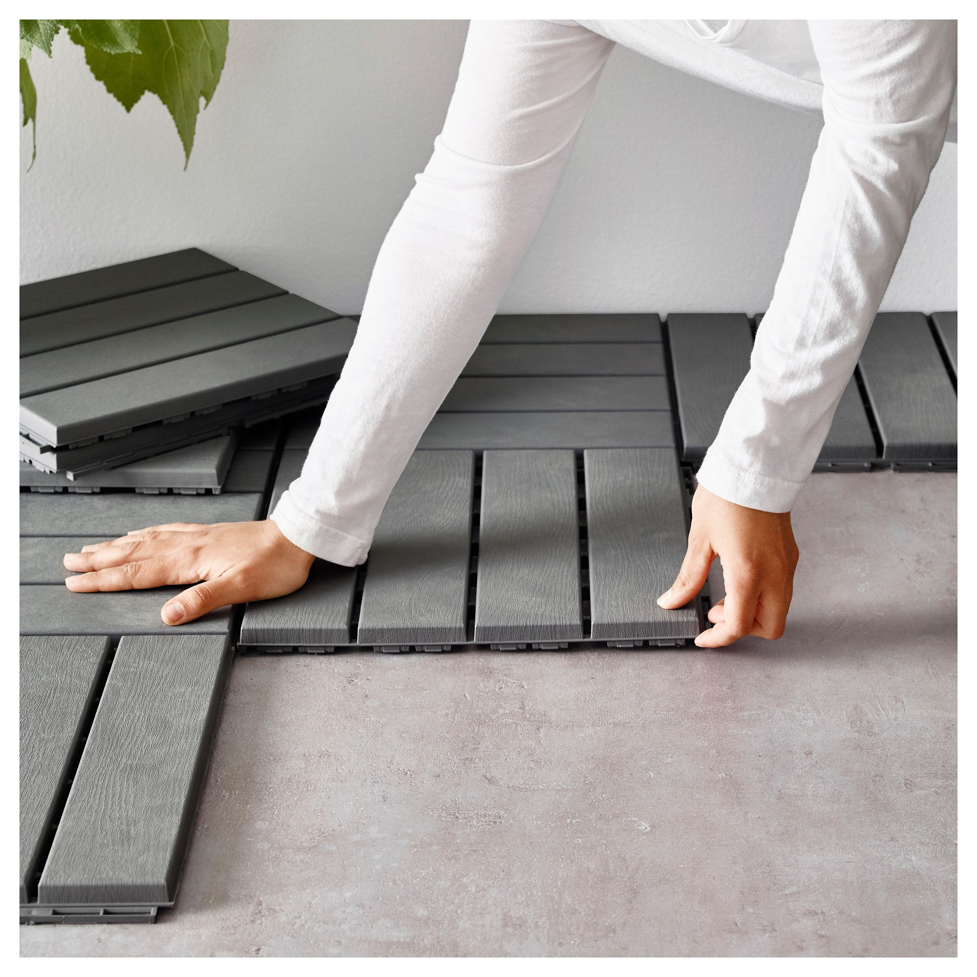 Delightful IKEA RUNNEN Floor Decking, Outdoor Floor Decking Makes It Easy To Refresh  Your Terrace Or