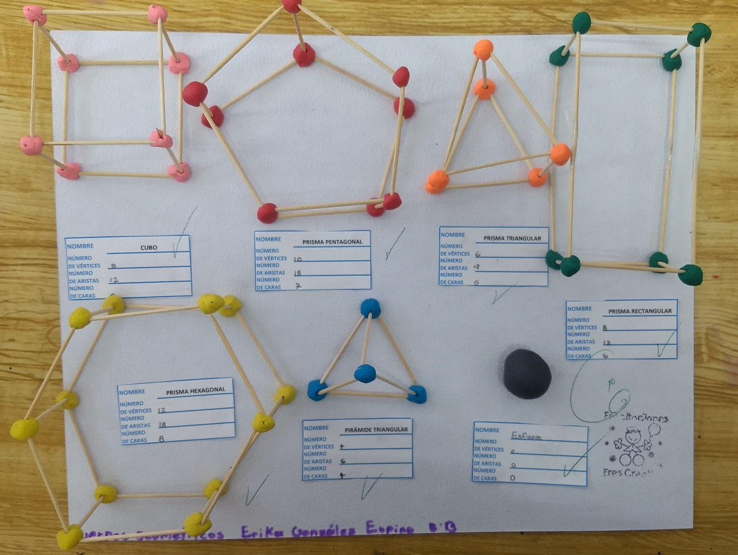 Cuerpos Geométricos Con Plastilina Y Palillos De Madera Actividades De Aprendizaje Primer Grado De Primaria Manualidades