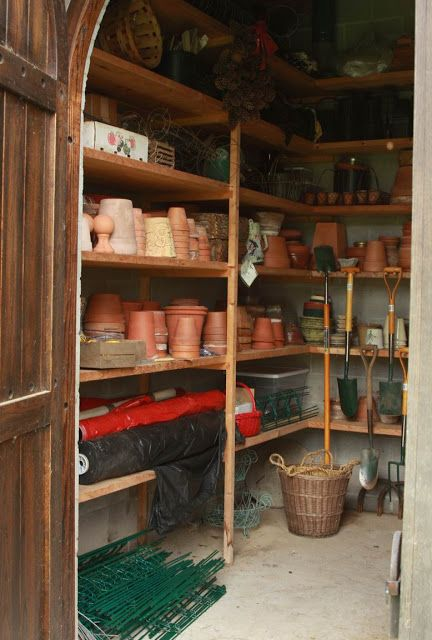 Inside my dream potting shed