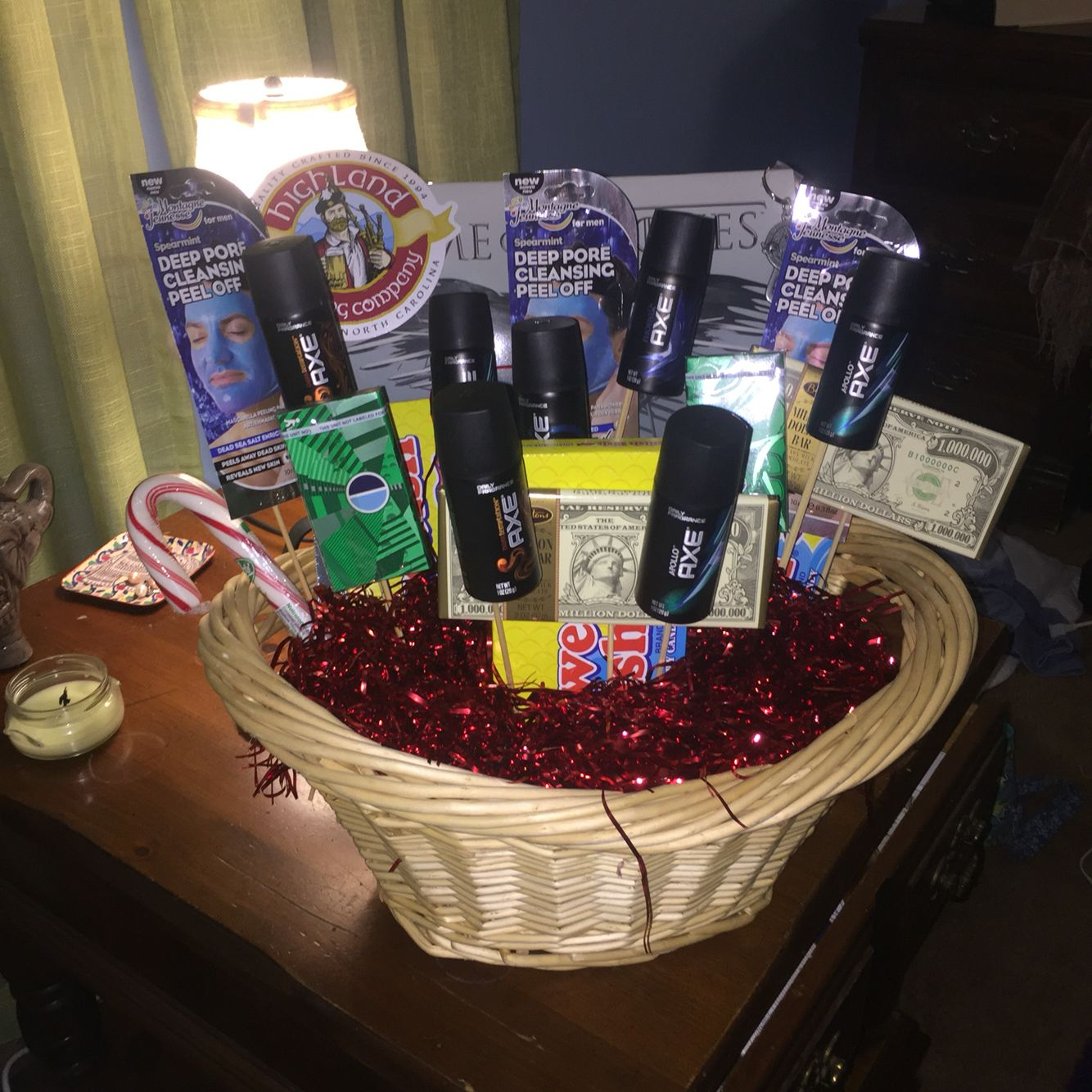 Man bouquet man basket gift for him easy dyi great birthday man bouquet man basket gift for him easy dyi great birthday christmas or easter gift dyi crafts i have done pinterest man basket man bouquet and b negle Choice Image